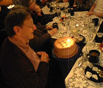 celebrating Richard's birthday at Guarino's